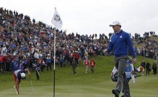 Le golfeur irlandais Rory Mc Ilroy, le 28 septembre 2014 à Gleneagles lors de la Ryder Cup.