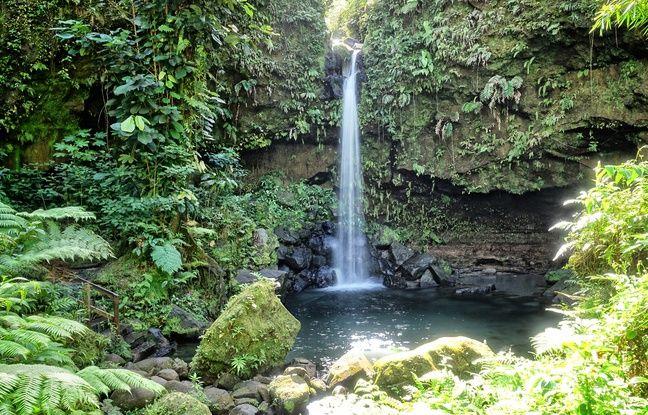 La cascade d'Emerald Pool invite à la baignade au pied du morne Trois Piton.