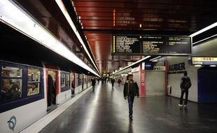 Illustration de la station Auber sur la ligne A du RER