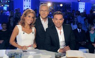 Léa Salamé, Laurent Ruquier et Yann Moix, dans On n'est pas couché sur France 2.