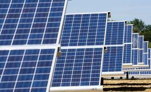 Le parc photovoltaïque d'Avignonet-Lauragais. Panneaux voltaïque.