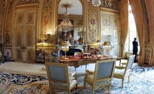 Le bureau présidentiel au Palais de l'Elysée à Paris en septembre 2011