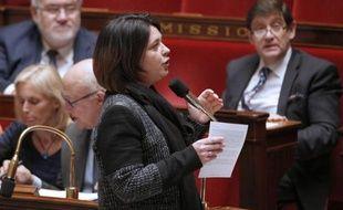 La ministre du logement Sylvia Pinel le 24 mars 2015 à l'Assemblée nationale à Paris