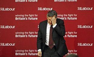 Gordon Brown a annoncé la suspension du député travailliste Elliot Morley lors du discours de lancement de la campagne de son parti en vue les élections européennes. 14 mai 2009