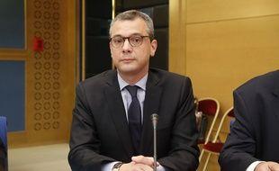 Alexis Kohler, secrétaire général de l'Elysée, lors de son audition à la Commission des lois du Sénat, jeudi 26 juillet.
