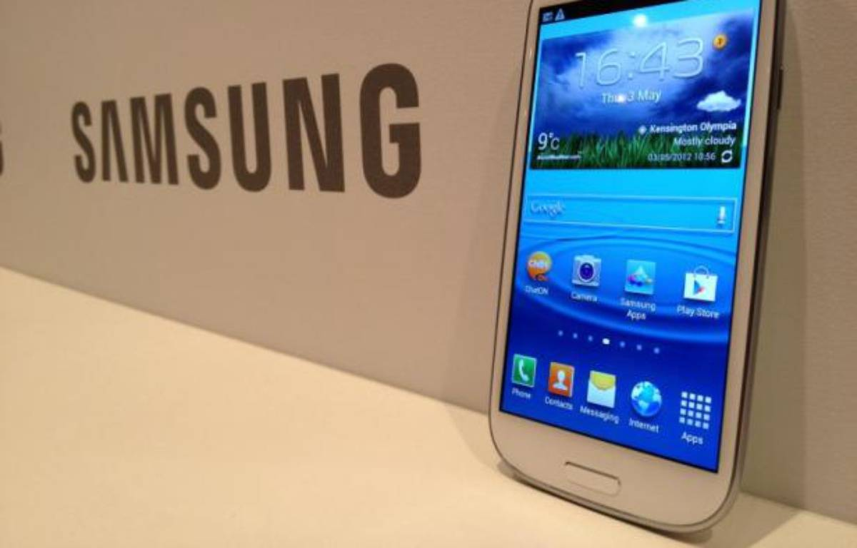 Le Galaxy S III, de Samsung, présenté le 3 mai 2012. – C.SEFRIN/20MINUTES