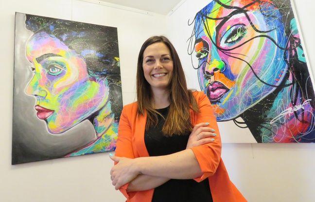 Rennes: Avec ses portraits colorés, Émilie nous en met plein la vue