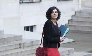 Myriam El Khomri quitte le palais de l'Elysée (Paris), le 8 mars 2017.