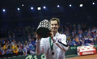 Andy Murray a remporté ses trois matchs et offert la victoire à la Grande-Bretagne en finale de Coupe Davis contre la Belgique, le 29 novembre 2015.