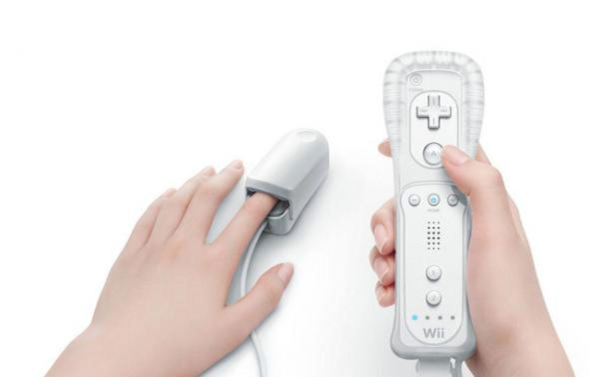 Le Wii vitality sensor, présenté par Nintendo lors de l'E3 2009 à Los Angeles – DR