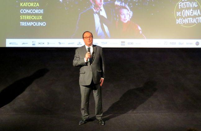 François Hollande au cinéma Katorza à Nantes, le 20 juin 2019.