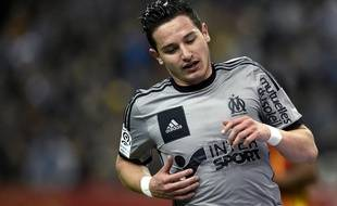 L'attaquant de l'OM Florian Thauvin, le 22 mars 2015 contre Lens au Stade de France.