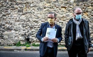 Le maire de Bordeaux Pierre Hurmic (à gauche), avec son adjoint à la nature Didier Jeanjean