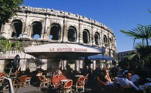 Les arènes romaines de Nîmes, dans le Gard.