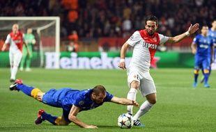 La faute de main grossière de Chiellini lors du quart de finale retour de Ligue des champions entre Monaco et la Juventus (0-0), le 22 avril 2015.
