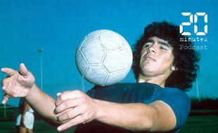Le footballeur argentin Diego Maradona en 1980