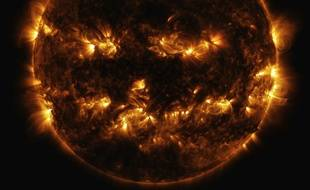 Le Soleil vu depuis l'espace (illustration).