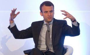 Le ministre français de l'Économie Emmanuel Macron, lors d'une conférence organisée par le quotidien économique Financial Times sur l'avenir de l'Europe, à Londres, le 14 avril 2016