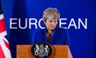 Theresa May lors d'une conférence de presse le 11 avril 2019.