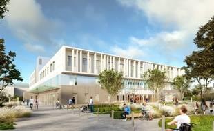Image de synthèse du futur bâtiment de médecine physique et de réadaptation