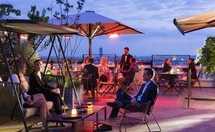 """Vue depuis le rooftop du Terrass"""" Hotel"""