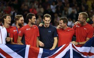 Andy Murray (au centre) s'est lâché à la télévision britannique.