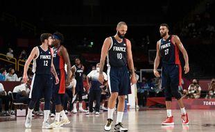 L'équipe de France de basket battue par les Etats-Unis en finale des JO de Tokyo, le 7 août 2021.