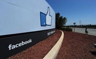 Le siège de Facebook, à Palo Alto, en Californie.