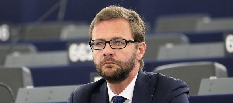 Jérôme Lavrilleux au Parlement européen à Strasbourg en 2014.