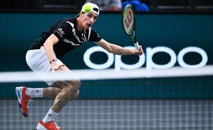 Ugo Humbert a battu Marin Cilic en 8e de finale du Masters 1000 de Paris-Bercy, le 5 novembre 2020.