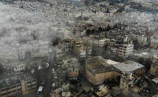 La ville d'Idleb en Syrie le 5 février 2020.