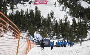 Des membres de Génération Identitaire lors d'une opération anti-migrants dans les Hautes-Alpes