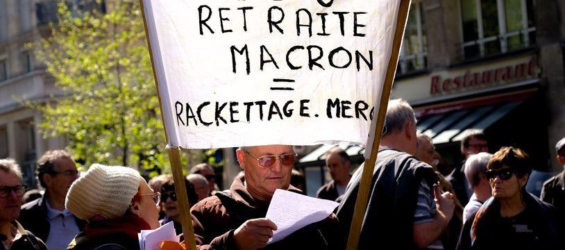 Une manifestation de retraités réclamant notamment l'annulation de la hausse de la CSG.