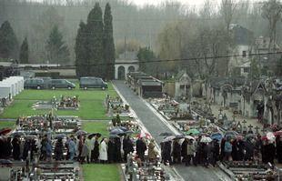 Le 11 janvier 1996 au cimetière de Jarnac.