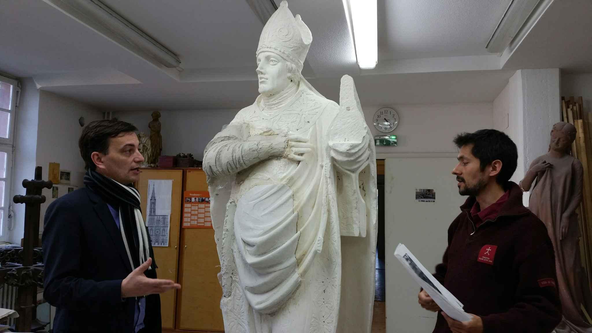 strasbourg un appel au financement des internautes pour la restauration d 39 une statue de saint. Black Bedroom Furniture Sets. Home Design Ideas