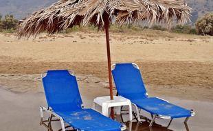 Une plage...assez décevante.