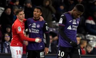Aaron Leya Iseka et les Toulousains ont enchaîné une dixième défaite consécutive en Ligue 1 le 11 janvier 2019 contre Brest (2-5), au Stadium de Toulouse.