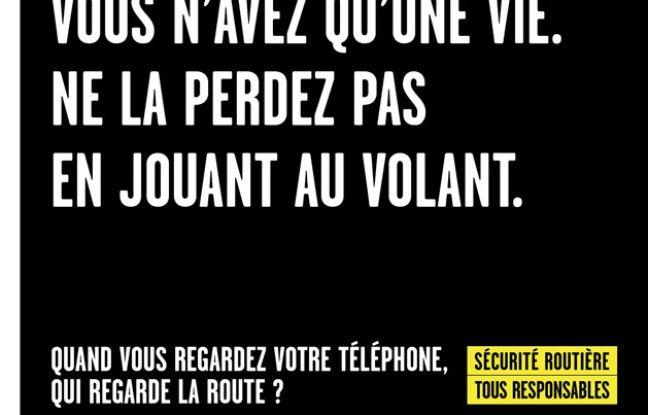 Une affiche de la campagne de la Sécurité routière lancée en septembre 2016.