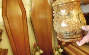 Une urne funéraire (illustration)