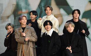 Les chanteurs du groupe BTS