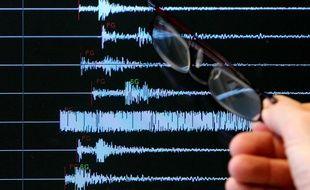 Lors d'un séisme. (Illustration)