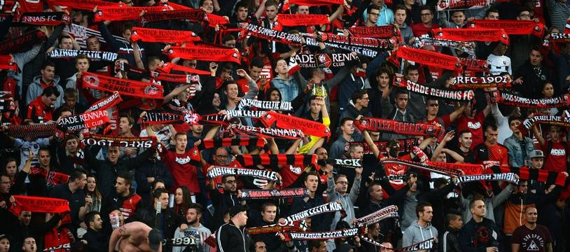 Illustration de supporters rennais.