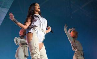 La chanteuse Rihanna lors de son concert à Oslo.