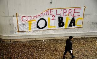 L'université Paris I Tolbiac (XIIIe) occupée par des étudiants, le 4 avril 2018.