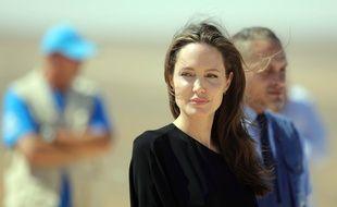 Angelina Jolie dans un camp de réfugiés syriens en Jordanie, le 9 septembre 2016.