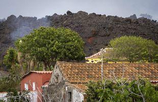 Sur l'île de La Palma aux Canaries, en Espagne, le 22 septembre 2021.
