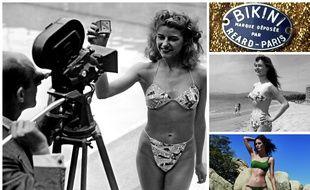 Micheline Bernardini en Bikini le 5 juillet 1946, la marque déposée par Louis Réard, Brigitte Bardot à Cannes en 1953 et maillot de bain Calarena.