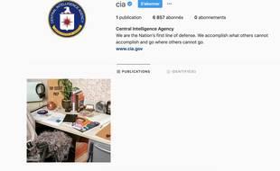 Capture d'écran du compte instagram de la CIA.