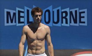 Andy Murray lors de son entraînement à Melbourne le 18 janvier 2009.