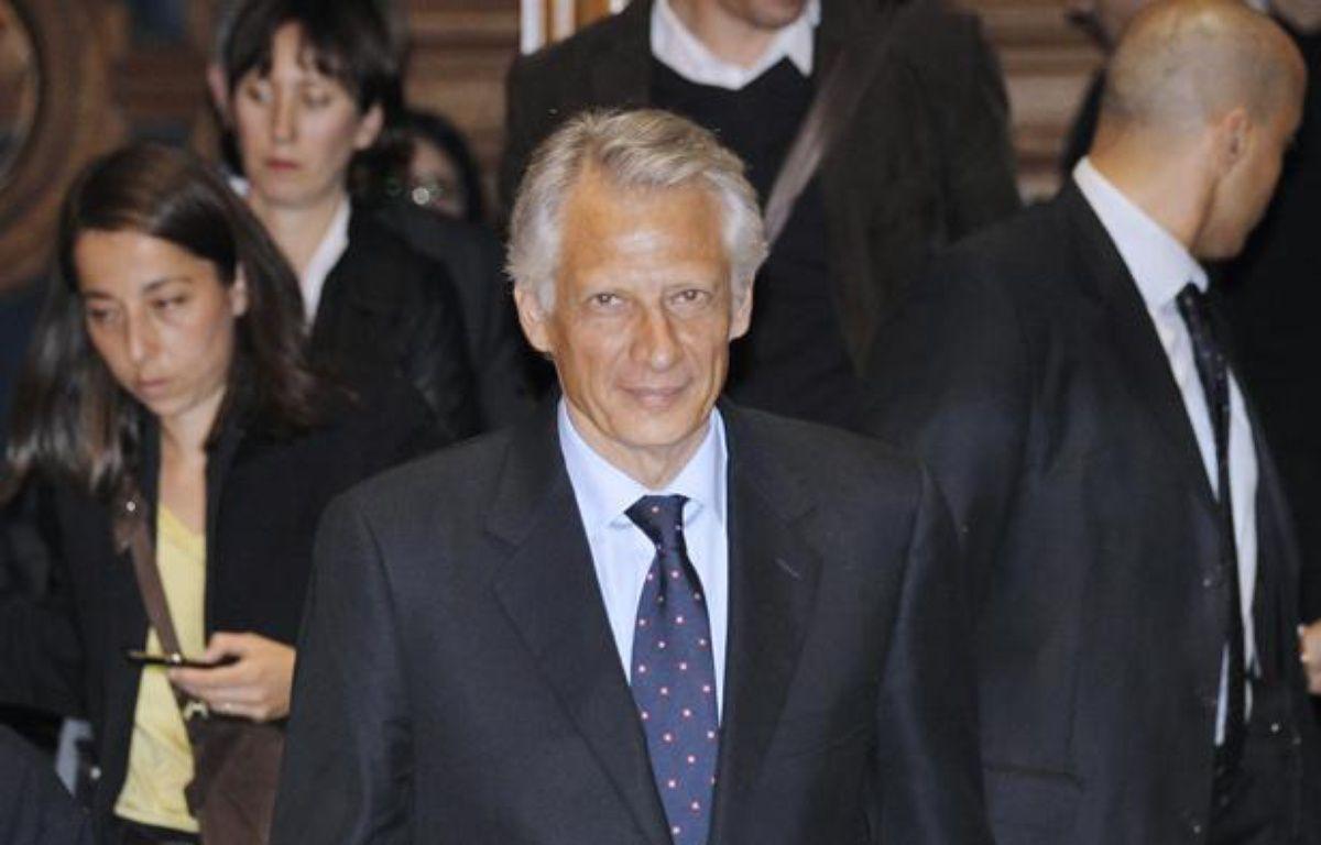 Dominique de Villepin, au tribunal de Paris, à l'ouverture du procès Clearstream en appel le 2 mai 2011. – P. KOVARIK / AFP